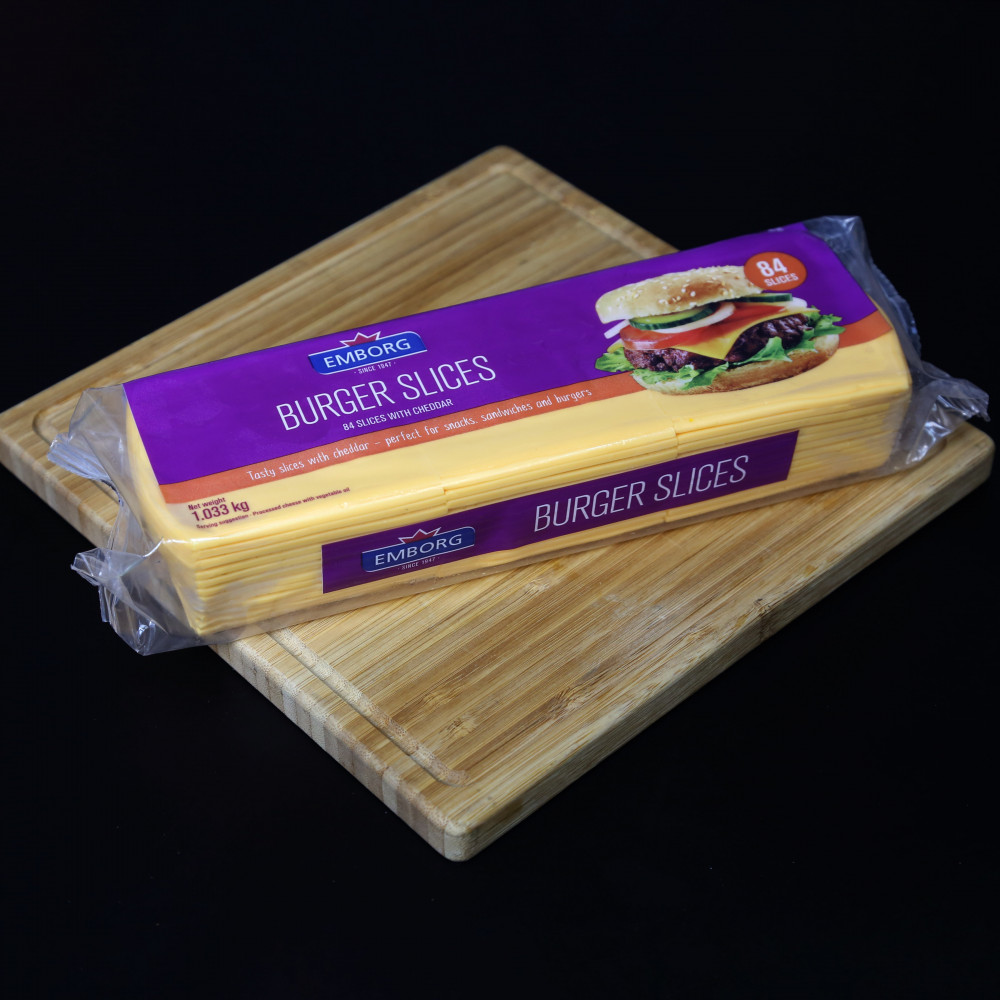 丹麥 Emborg 漢堡芝士片 ( 一包約1000g )