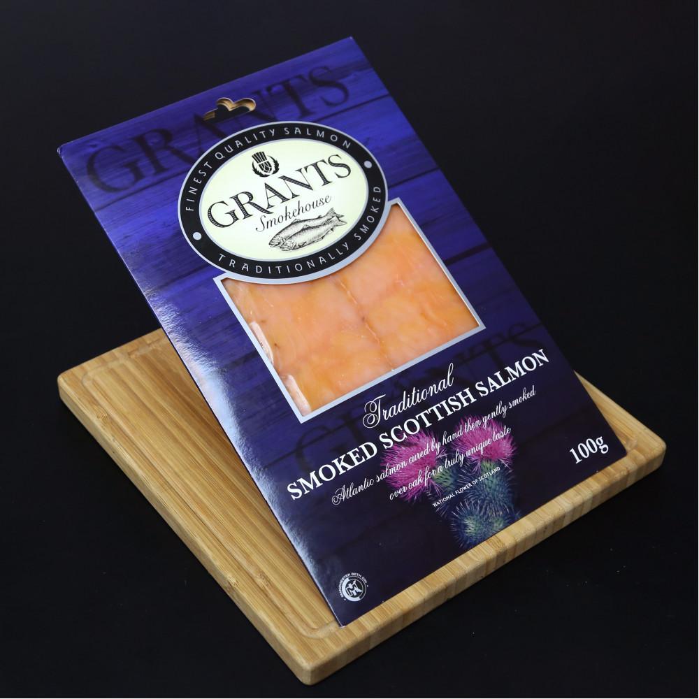 蘇格蘭 Grants Traditional 煙三文魚切片 ( 一包約100g )