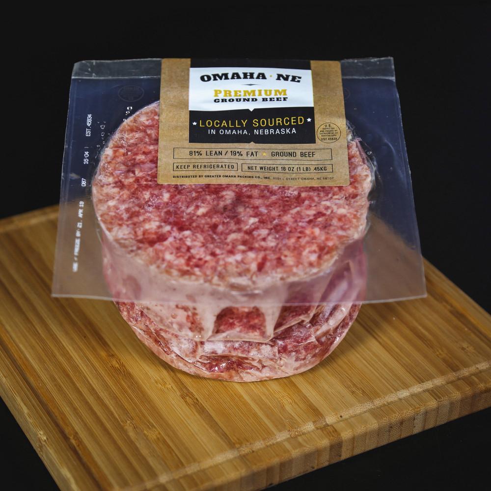 美國 Greater Omaha 免治牛肉漢堡 ( 一份2塊約230g )