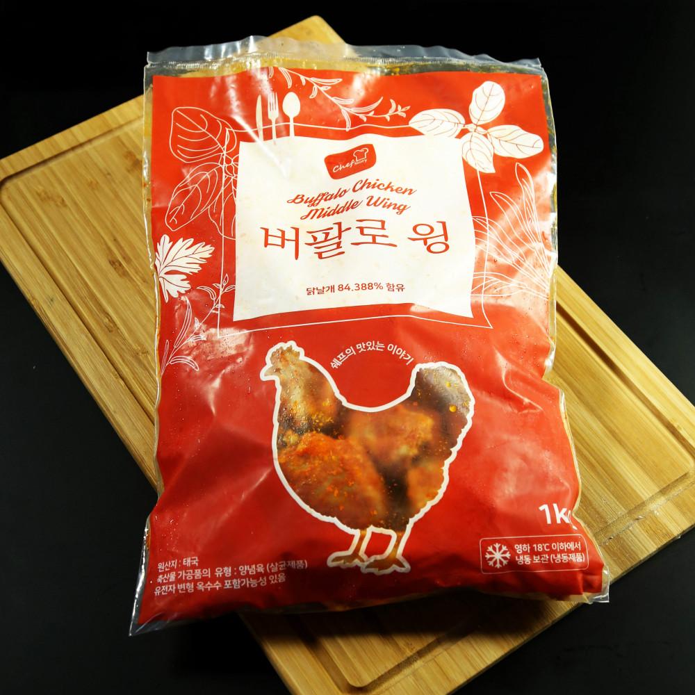 Chef 韓式香辣水牛城雞中翼 ( 一包約1000g, 約23隻 )