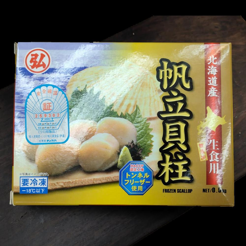 日本 北海道生干貝 3S 刺身級生帆立貝 ( 一盒約500g )