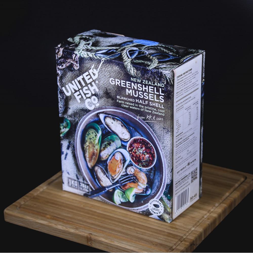 紐西蘭 United Fish Co. 半殻青口 ( 一盒約1000g )