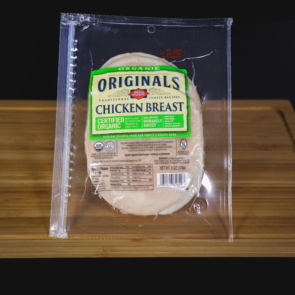 美國 Dietz & Watson 無激素經典有機雞胸火腿 ( 一包約56g )